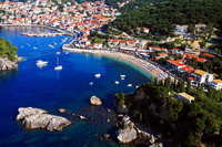 Aerial view on Krioneri beach Parga Greece