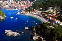 Aerial view on Krioneri beach Parga Greece