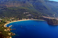 Aerial view on Valtos beach Parga Greece